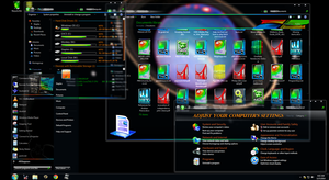 Windows 7.7 full transparency 64-bit THEME by KmCrct