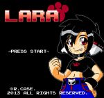 Lara 8 Bit Title screen by rongs1234