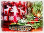 World of Tanks Yule Card (Norsk) by PaperArtillery