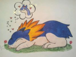 Sweet dreams Typhlosion by ApocalypseKitty