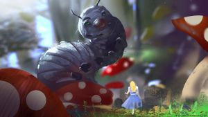 Spitpaint - Caterpillar by abigbat