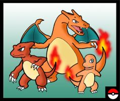 Charmander Family by ZappaZee