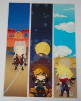 Kingdom hearts bookmarks 2 by knil-maloon