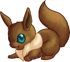 CUTE Eevee by dragowlfly