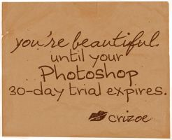 Photoshop Lies by crizoe