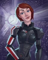 My Fem Shepard by Aerowan