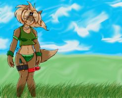 Lupe in the Wind Touched Up by freakyrockfox