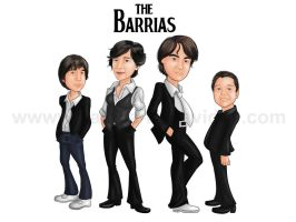 Caricature 'The Barrias' by NataliaBenavides