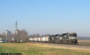 54A grain train w/ Penn Central heritage #1073 by EternalFlame1891