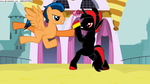 Shadow and Flash Sentry fighting Part 2 by CyrilSmith