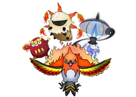 The Emblazors! Ultimate Evolution-imminent team! by realarpmbq