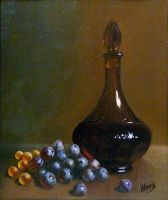 Grapes and decanter by v-a-m-p-i-r-o