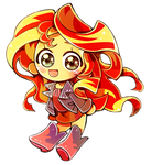 sunset shimmer chibi and VIDEO by 2sbr
