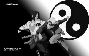 NARUTO AND SASUKE YIN YANG by stralight2011