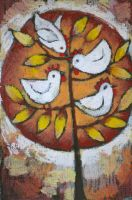 Chickens in Tree...no rooster by usartdude