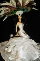 White Peacock Alabaster Beauty 3 by dakotassong