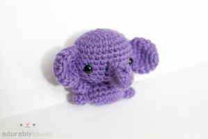 Purple Elephant by tinyowlknits