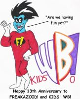 Freakazoid's 13th Anniversary by nintendomaximus