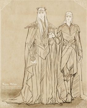 Mirkwood Family sketch by Kinko-White