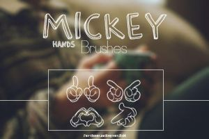 | Mickey Hands Brushes | by fattyBear