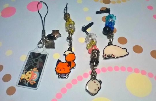 Cellphone Charms by Miss-Kraken