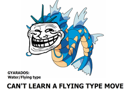 Gyarados and flying? by Tayzonrai
