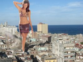 Giantess Havana smashing time in Cuba by Accasbel