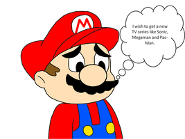 Mario wishes to get a new TV show by SuperMarcosLucky96