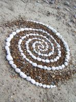 Pebble spiral by Dishtwiner
