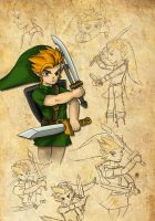 Link 2 Swords by Wings-of-Art