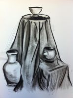 Still Life in Charcoal by KatarinaDelgado