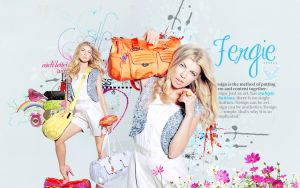 Wallpaper Fergie by shad-designs