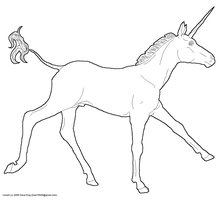 Male Unicorn Lineart by Vesperity