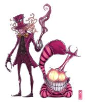 Madhatter and Cheshire cat by D33ablo