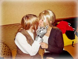 EdxWinry kiss by DarkMythril