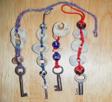 Hagstone and Key Charms by Lolair