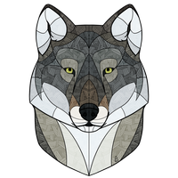 Stained Glass Wolf by Sketchanie
