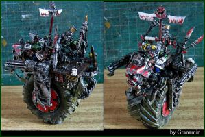 Ork 40k Painboy Nob in bike by Granamir by Granamir