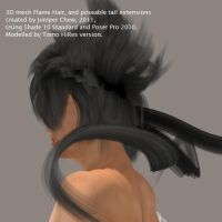 3D fantasy hair by me by ibr-remote
