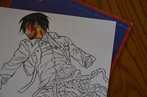Levi in progress [gore] by DoreiShounen