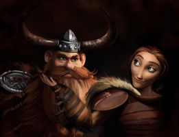 Stoick the Vast and Valka by MartaDeWinter