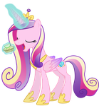 Princess Cadance Noms a Bitesize Apple Fritter by 90Sigma