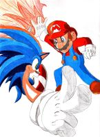 Mario Versus... Sonic by Ray-Of-Hope