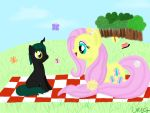 Tyke and Future Fluttershy by Miss-Mattie-Shimmer