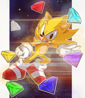 Super Sonic Go by ten-heart