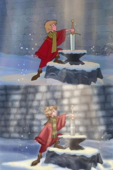 The Sword in the Stone Paintover by I-AmThatIsJamala