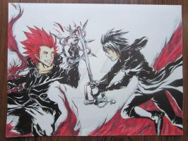 Axel Vs Xion by GunMetalX-21