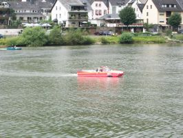 car floating on water-germany by SasukeTheRevenger