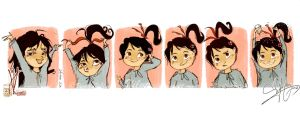 Vanellope 's guide to adorable hair by Vilva
