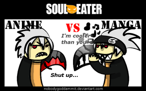 Soul Eater Anime vs. Manga : Soul by nobodygoddammit